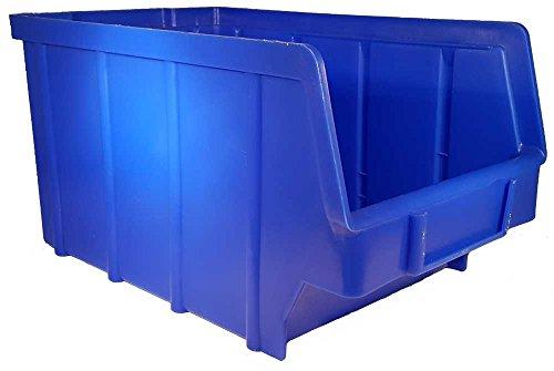 26 Stück Stapelboxen blau Gr.3 (145 x 248 x 127 mm) Kunststoff PP Sichtlagerkästen Stapelkästen │ P-D-W®
