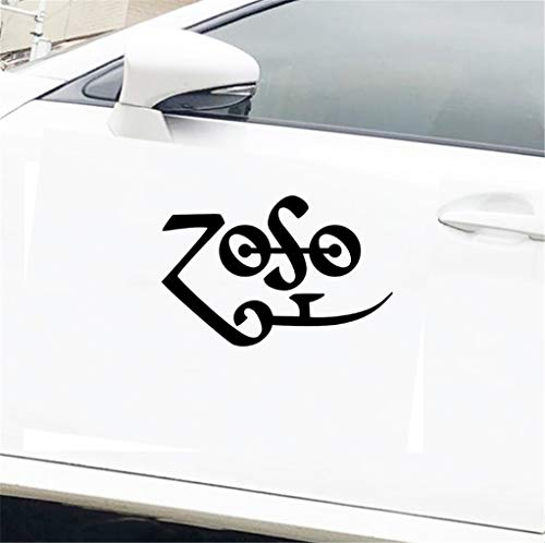 Adesivi Auto Tuning Paraurti finestra paraurti camion frigo Zoso Led Zeppelin 13 cm per autoadesivo della finestra del computer portatile auto