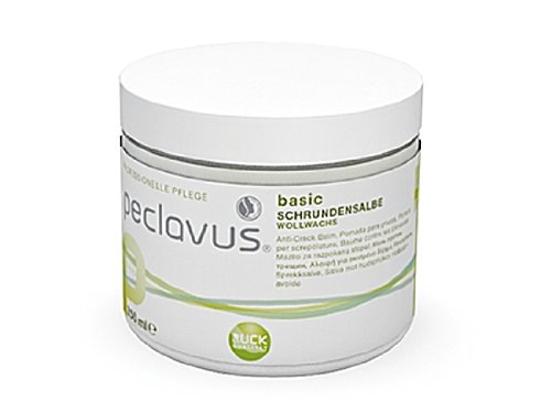 Peclavus Basic Schrundensalbe Propolis u. Canaubawachs, Salbe gegen Hornhaut und Risse an der Fußhaut, 250 ml