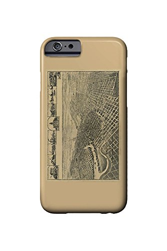 Stockton, California Panoramic Map (iPhone 6 Cell Phone Case, Slim Barely There)