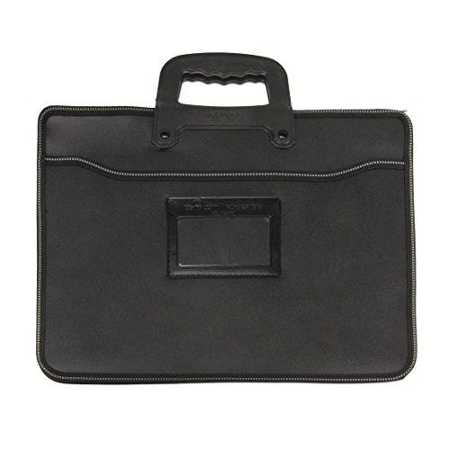 LY Neu Aktentasche Aktenmappe Dokumentenmappe Dokumententasche Businesstasche Konferenzmappe Handtaschen für Büro und Schule (Griff Aktentasche Leder)
