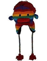Wintermütze - Bunte Affe Nepalmütze Regenbogen