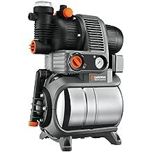 Gardena 1756-20 Pumpe Hauswasserwerk Premium 5000/5 Eco Inox, mit Trockenlaufsicherung, Rückschlagventil; 3 Anschlüsse, Edelstahl Tank (Motorleistung 1200W, Max. Fördermenge 4500 l/h, Gewicht 17kg)