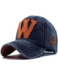 WXLQ Gorra de béisbol del ocio, casquillo, sombrero de los hombres, sombrero del sol de las letras , navy blue , 56-60cm adjustable