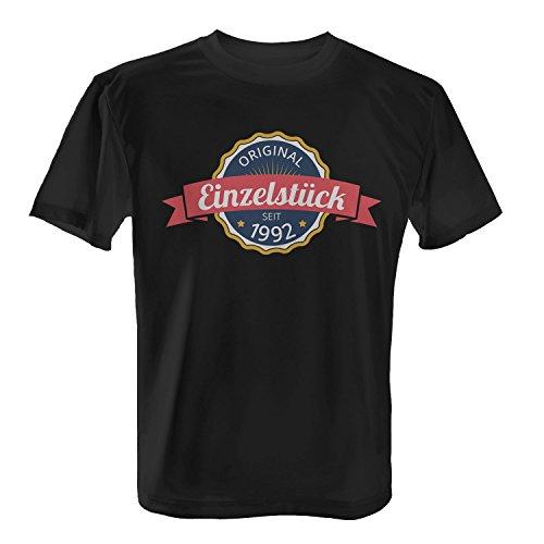 Fashionalarm Herren T-Shirt - Original Einzelstück seit 1992 | Fun Shirt mit coolem Motiv als Geschenk Idee zum 25. Geburtstag Jubiläum Schwarz