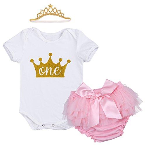 53546a719481 Newborn Baby Infant Toddler Girls It's My 1st Birthday Cake Smash Shiny  Printed Sequin Tutu Princess