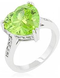 ISADY - Vicky - Women's Ring - Cubic Zirconia Green - heart