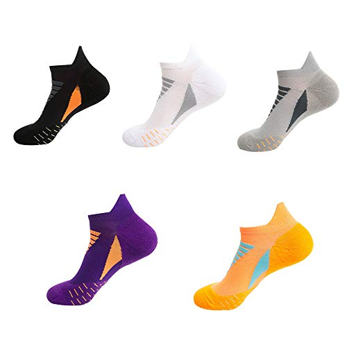 HOMDREAM Calzini Estivi da 5 Paia Calzini da Corsa alla Caviglia per Sneakers Sportive E da Passeggio