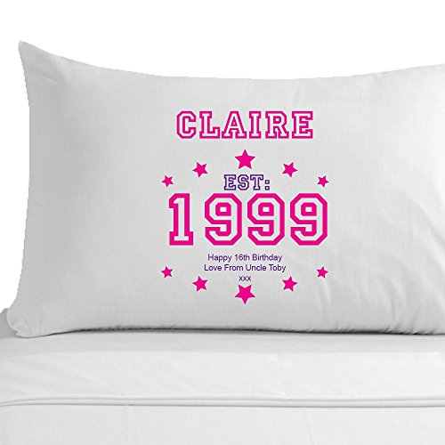 Personalised 16th Birthday Pillowcase Girls Gift Sweet 16 Presents By