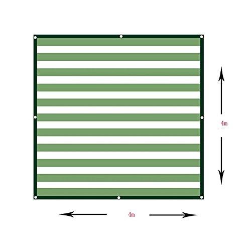 Rete di ombreggiatura nan tenda da sole rettangolare da 90% parasole - verde bianco a 6 poli in polietilene uv balcone terrazzo tenda da sole - disponibile su misura vele parasole (dimensioni : 4×4m)