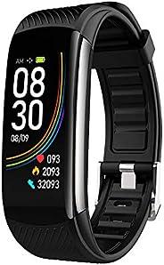 VOKY Smartwatch,Misurazione della Temperatura Saturimetro Misuratore Pressione Cardiofrequenzimetro Orologio F