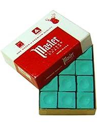 Tiza para Billar Master Verde, 12 unidades por caja