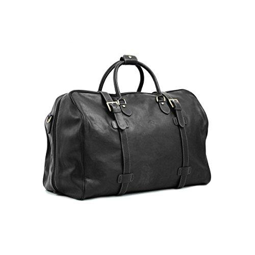 Katana - Sac de voyage Cuir de vachette - Noir - Taille 60 cm - Couleur Noir