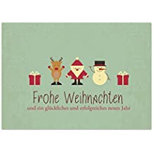 15 x Weihnachtskarten (Moderner Vintage Look) Grußkarten im Postkarten Format mit Umschlag/Weihnachten im Set/privat / geschäftlich