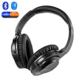Active Noise Cancelling Bluetooth Headphones Wireless & Wired with Microphone Hi-Fi Stereo Deep