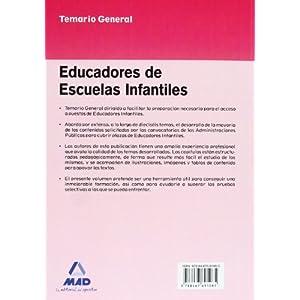 Temario General. Educadores De Escuelas Infantiles