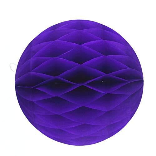 8 Zoll 20 cm Bienenwabenkugeln farbige Bienenwabenkugeln Bienenwaben Laterne Papierkugeln alles Gute zum Geburtstag Dekorationen Lieferungen - Deep Purple -