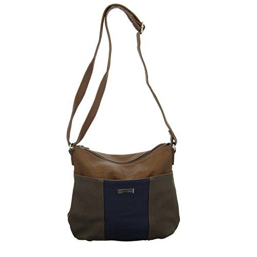 Jewels of Style TCJ81555 TCJ81555 Damen Handtasche mit Reißverschluss Braun (Braun)