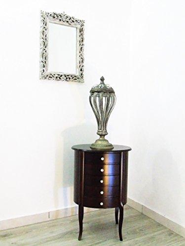 Tavolino ovale noce contemporaneo cassettiera bombata con (Noce Ovale Tavolino)