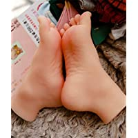 YH-feet Mannequin Foot, Silica gel foot Manikins 1 Pair Lifesize Silicone Female Mannequin Foot Display Jewerly Sandal Shoe Sock Display Art Sketch