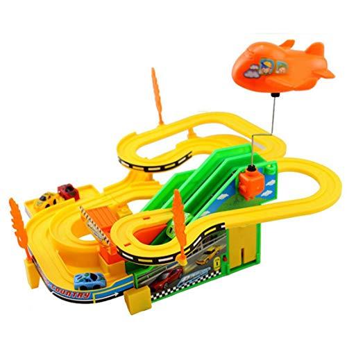 73JohnPol Elektrotriebwagen Geschwindigkeit rennstrecke Auto Kinder pädagogisches Spielzeug zur verbesserung des kinderbewusstseins, farbmischung - Pädagogische Zug