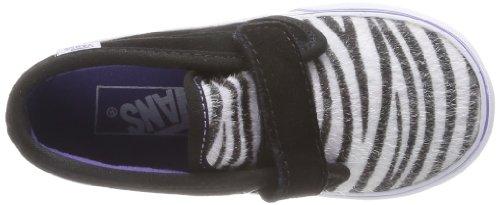 Vans  T Chukka V,  Sneaker unisex bambino nero (Noir (Suede/Zebra B))