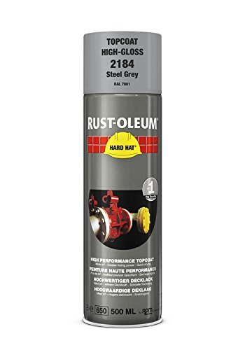 Best Rust-Oleum Industrial High Gloss Steel Grey RAL 7001 Hard Hat 2184 Aerosol Spray 500ml (24 Pack) Discount