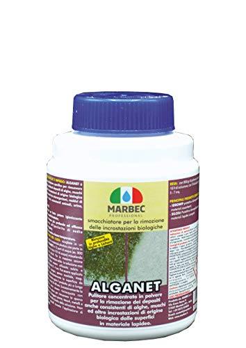 marbec - alganet 800 gr | pulitore smacchiatore per la rimozione di alghe, muffe, licheni e incrostazioni biologiche su pavimenti e rivestimenti.