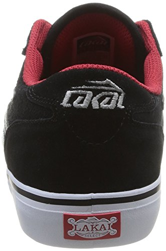 Lakai - Manchester, Scarpe da skateboard da uomo Nero(Black (Black/Grey Suede))