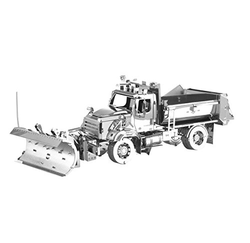 Metal Earth - Fascinations, FREIGHTLINER 114SD SNOW PLOW 3d Metall Puzzle, Konstruktionsspielzeug, Lasergeschnittenes Modell (Freightliner-tools)