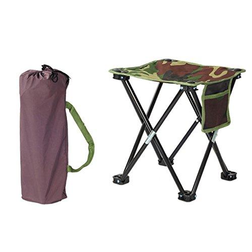 Klappstuhl KKY-Enter Outdoor Camo Tragbare Camping Strand Angeln Stuhl Hause Urlaub Picknick BBQ Faltbare Kleine Hocker (größe : L31.5*W31.5*H34.5cm)