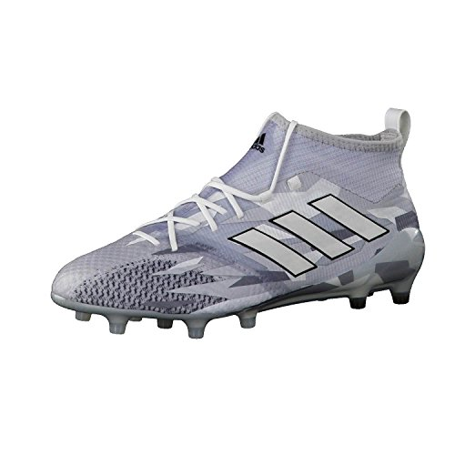 Ace 17.1 Primeknit FG Football Boots - Clear Grey/White/Core Black - size 8.5 (Sock Elite Adidas)