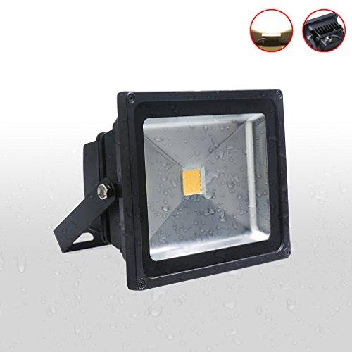 Auralum® 1x 30W LED Flutlicht Fluter Lampe strahler Außen Strahler Scheinwerfer Super hell Leuchte warmweiß Wasserdicht schwarz