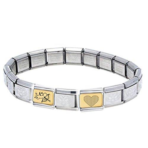 Ch Daisy (Italienisches Charm-Armband aus 03Edelstahl und vergoldet mit 18Karat, für Nomination Classic Schmuck geeignet)