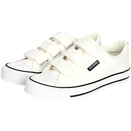 Oasap Men's Trendy Round Toe Flat Velcro Sneakers Black