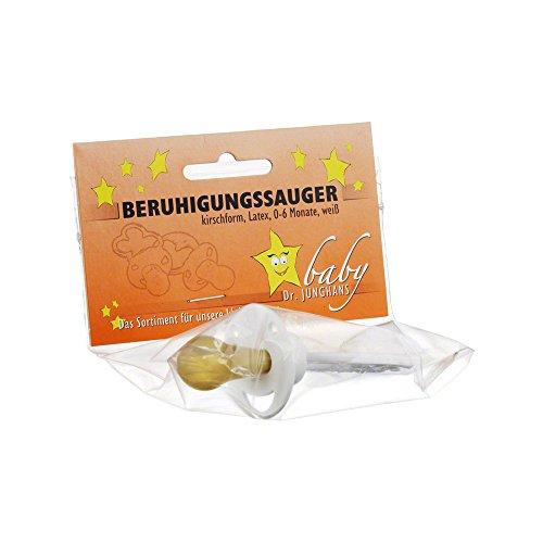 BERUHIGUNGSSAUGER Kirschf.Lat.0-6 M.weiß 1 St