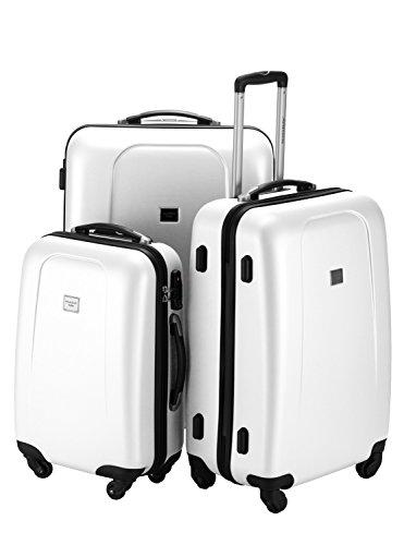 Kofferset Hauptstadtkoffer Hartschale Serie Wedding 42,67 und 103 Liter mit TSA in 9 verschiedenen Farben inkl. Kulturtasche (Weiss)
