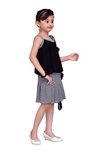 ADIVA Girl's Party Wear Dress for Kids (G_1122_Black_40)
