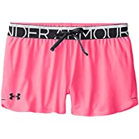 Under Armour Play Up Cortos para niña, niña, Color Pink Punk, tamaño Youth/Large