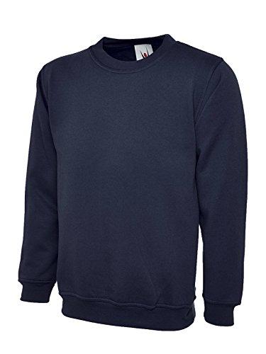 Klassisches Sweatshirt, rundhalsausschnitt–erhältlich in XS bis 4XL–Ideal für Sport, Arbeit und Freizeit Gr. XXXL, navy (Arbeiten Blaue Navy Uniform)