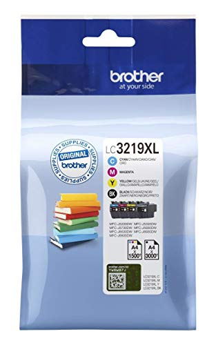 Brother Original Tintenpatronen LC-3219XL im Value Pack (schwarz,cyan,magenta,gelb) (für Brother MFC-J5330DW, MFC-J5335DW, MFC-J5730DW, MFC-J5930DW, MFC-J6530DW, MFC-J6930DW, MFC-J6935DW) - pack of 4