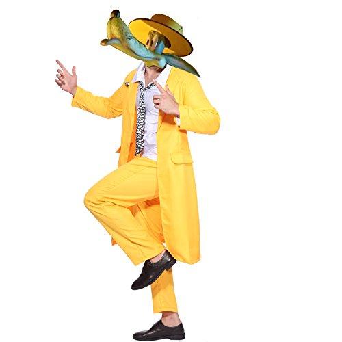Film The Mask Kostuem Karneval Fasching Motto Party Halloween Herren Fancy Dress (Fancy Film Kostüme Qualität Dress)