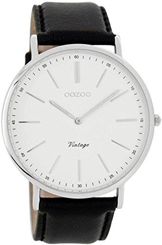 Oozoo Unisex-Armbanduhr Analog Quarz Leder C7313