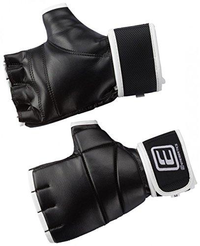 ENERGETICS Unisex- Erwachsene Powerhand Gel Boxhandschuhe, Black/Grey/RED, S