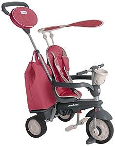 SMARTRIKE 195-0500-Voyage 4in1Triciclo para niños a Partir de 10Meses, Color Rojo