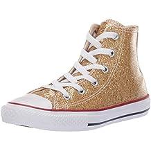 bca12f0b2fc8 Converse Chuck Taylor All Star Hi Sport Sparkle Gold Synthetische Jugend  Trainer Schuhe