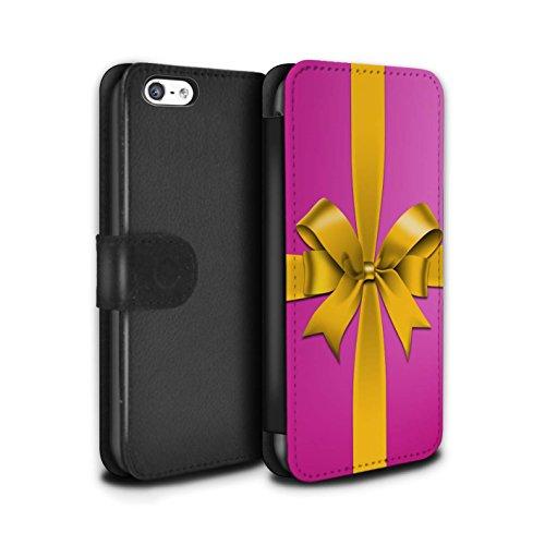 Stuff4 Coque/Etui/Housse Cuir PU Case/Cover pour Apple iPhone 5C / Pack 5pcs Design / Cadeau de Noël Collection Rose