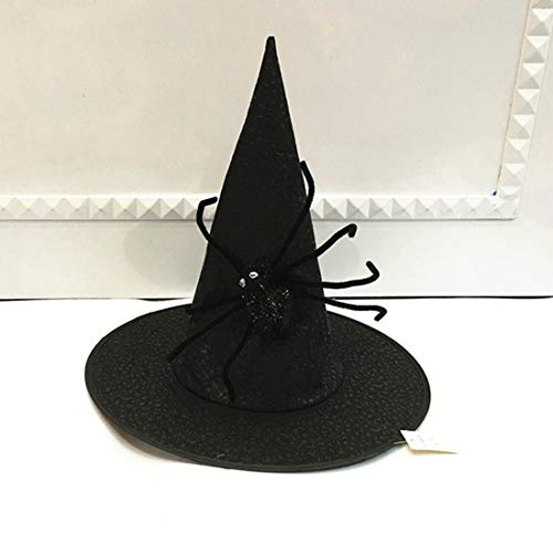 ider Hat Ribbon Wizard Party Hats Witch Masquerade Cosplay Costume Halloween Fancy Dress - Assorted Dogs Adult Cats Ocean Baby Pink Sunglasses Donuts Glasses Gangster Pr ()
