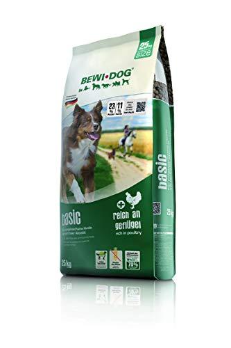 BEWI DOG Basic [25 kg] Hundefutter | Trockenfutter für Hunde | ohne Weizen & Soja | 80{7b15a6d3604d6526845a8c30ca2b4710fa81ae304ece822c6472814f1689fffb} tierisches Eiweiß | für große, mittlere & Kleine Rassen