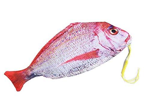 iSuperb® Lustiger Fisch-Bleistift-Kasten-kreativer einzigartiger Feder-Beutel-Verfassungsfall-Beutel-Reißverschluss-Mappe 30.5x14cm (Rotbarsch-Bleistifttasche)